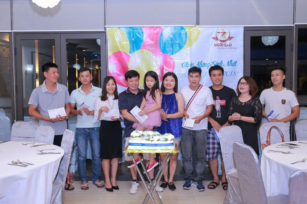 sinh nhật công ty ngôi sao